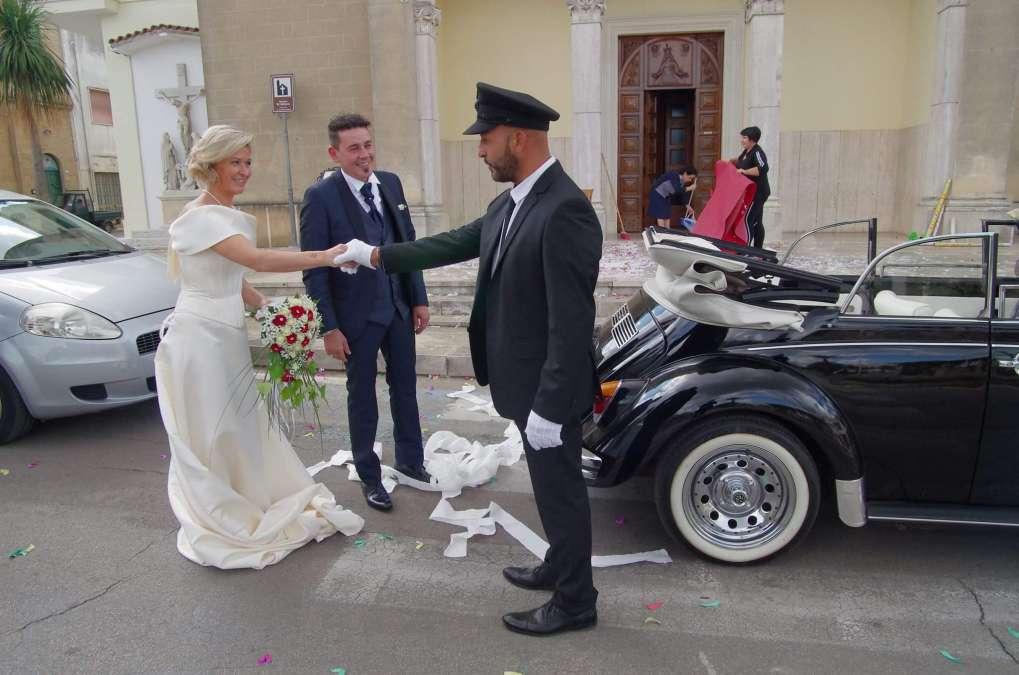 auto d'epoca per matrimonio
